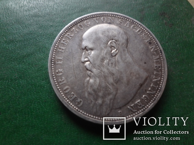 3 марки 1908  Германия Мейнинген  серебро  (2.4.14)~