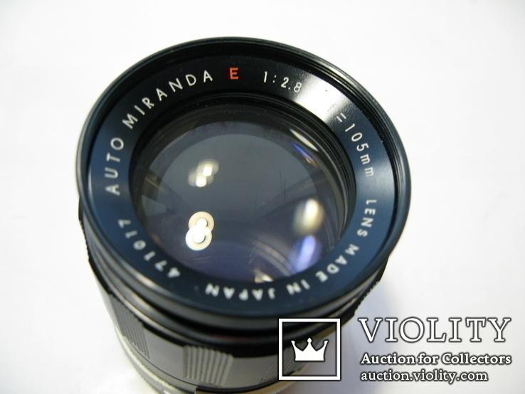 Auto MIRANDA E 1:2.8 f=105mm Lens made in Japan, фото №5