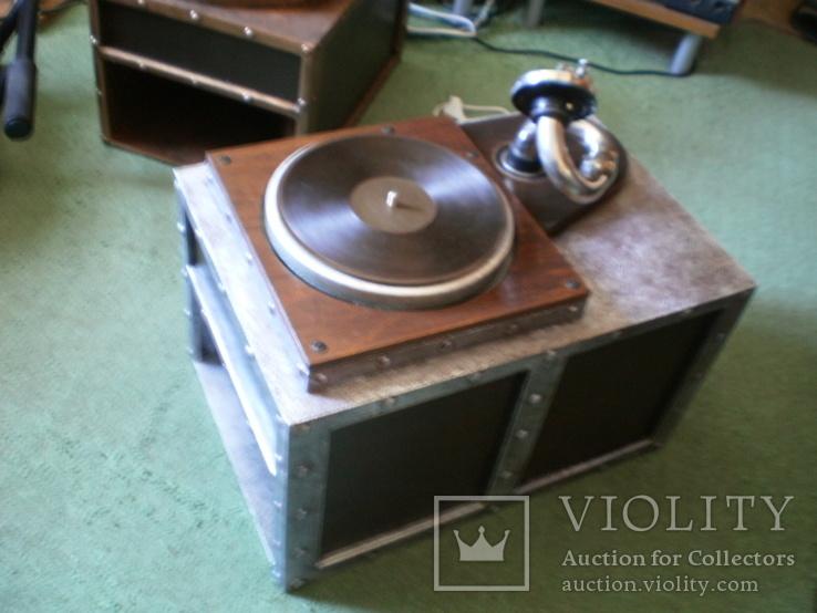Граммофон-патефон на электро-приводе ( стиль - компиляция лофт , хай-тек и т.д.), фото №4