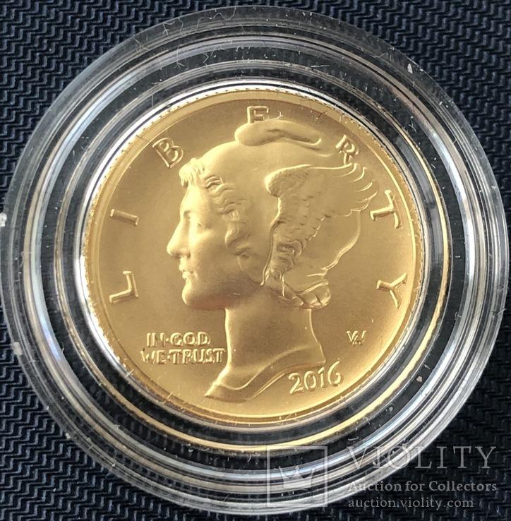 ONE DIME 2016 год США золото 3,11 грамм 999,9'