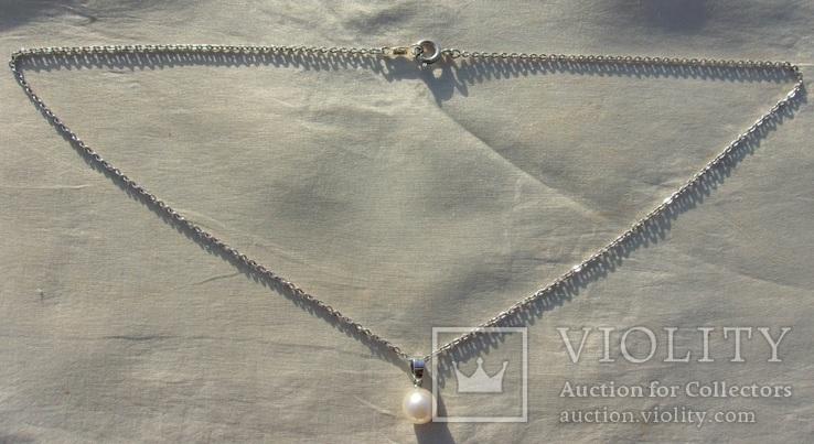 Кулон и цепочка Mikimoto (лот 2)., фото №2