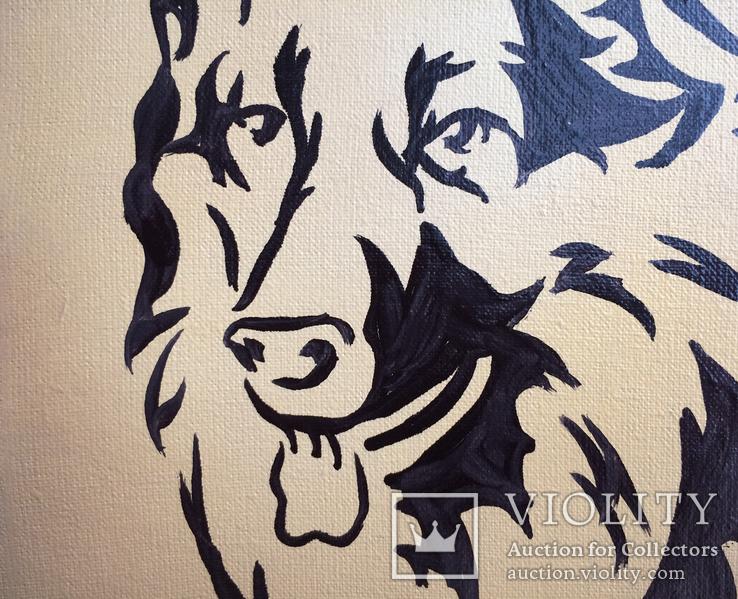Картина, Пёс, 15х20 см. Живопись на холсте, фото №4