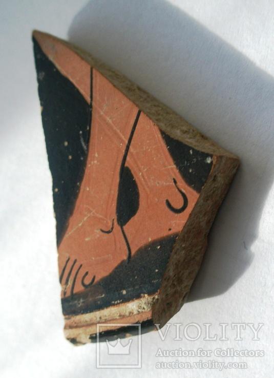 Фрагмент крышки краснофигурной леканы. Ольвия., фото №2