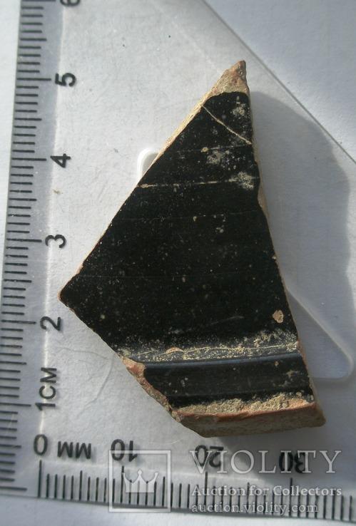 Фрагмент крышки краснофигурной леканы. Ольвия., фото №4