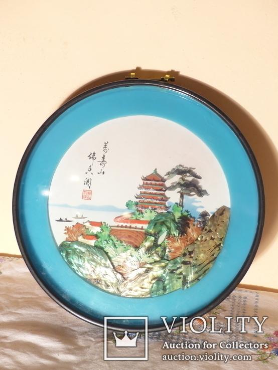 картина из  перламутра - япония или старый китай -, фото №3