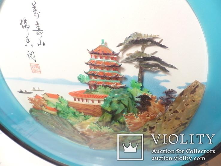 картина из  перламутра - япония или старый китай -, фото №6