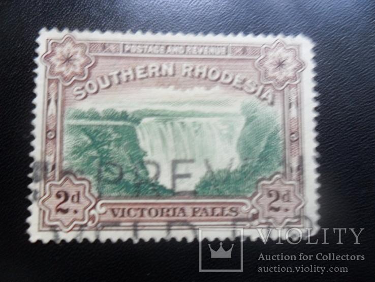 Британские колонии. Южная Родезия.   марка гаш