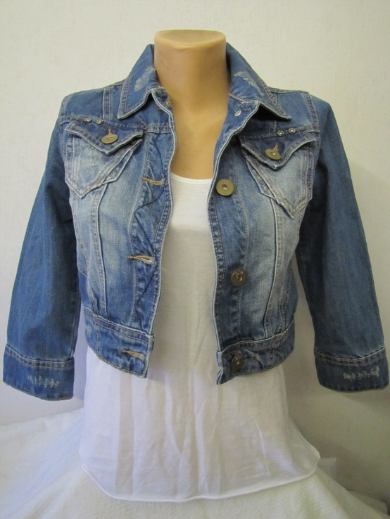 Куртка джинсовая р42-44 (S-M), фото №2