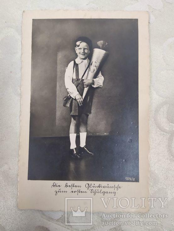 Немецкая открытка с мальчиком, фото №2