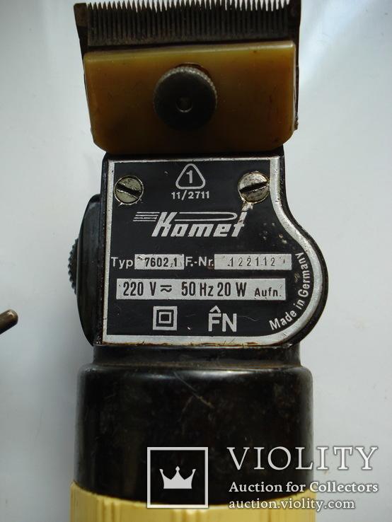 Парикмахерская машинка 70-х гг Comet, Германия, фото №3