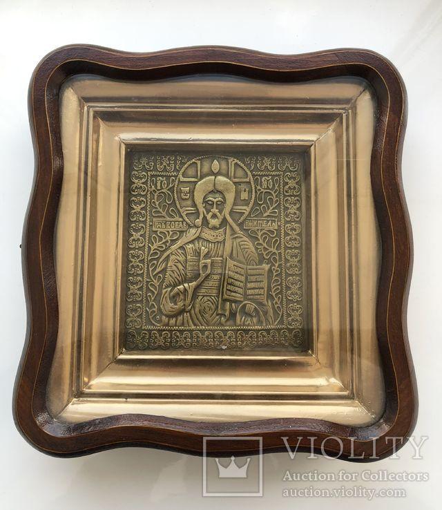 Икона Господь Вседержитель в киоте, фото №2