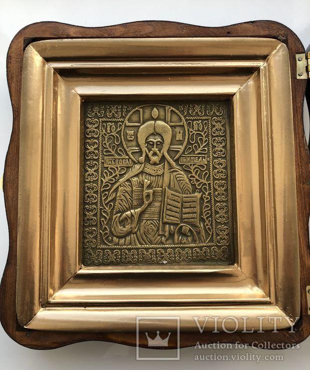 Икона Господь Вседержитель в киоте, фото №3