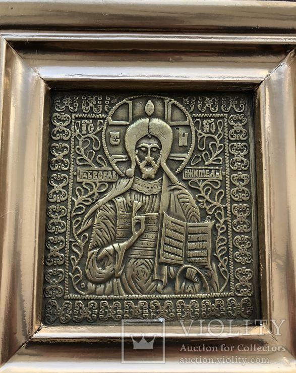 Икона Господь Вседержитель в киоте, фото №4