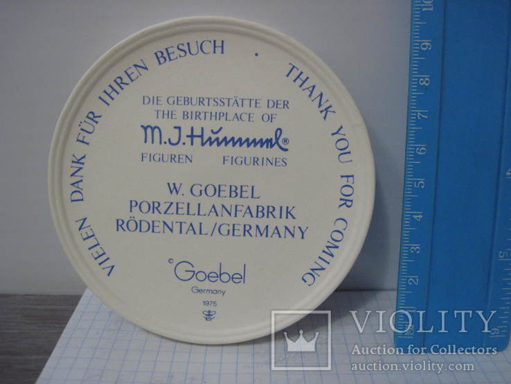 Медаль Goebel, Wir danken fur Inren Besuch, фото №4