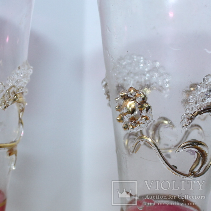Два бокала с позолотой , ручная работа, фото №10