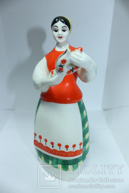 Фарфор СССР девушка с кувшином, фото №2