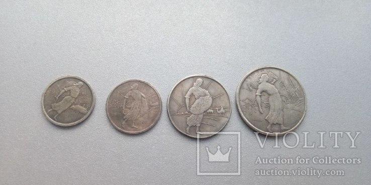 Комплект монет 1926 года тип 4 колхозница 4 монеты - 1,2,3,5 копеек, фото №3