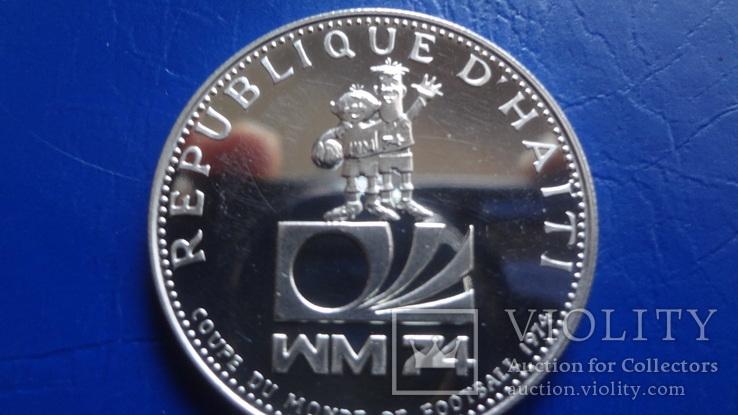 25  гурдес 1973  Гаити  серебро    ($8.3.3)~