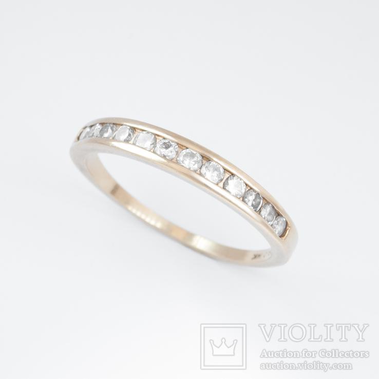 Золотое мужское обручальное кольцо с бриллиантами