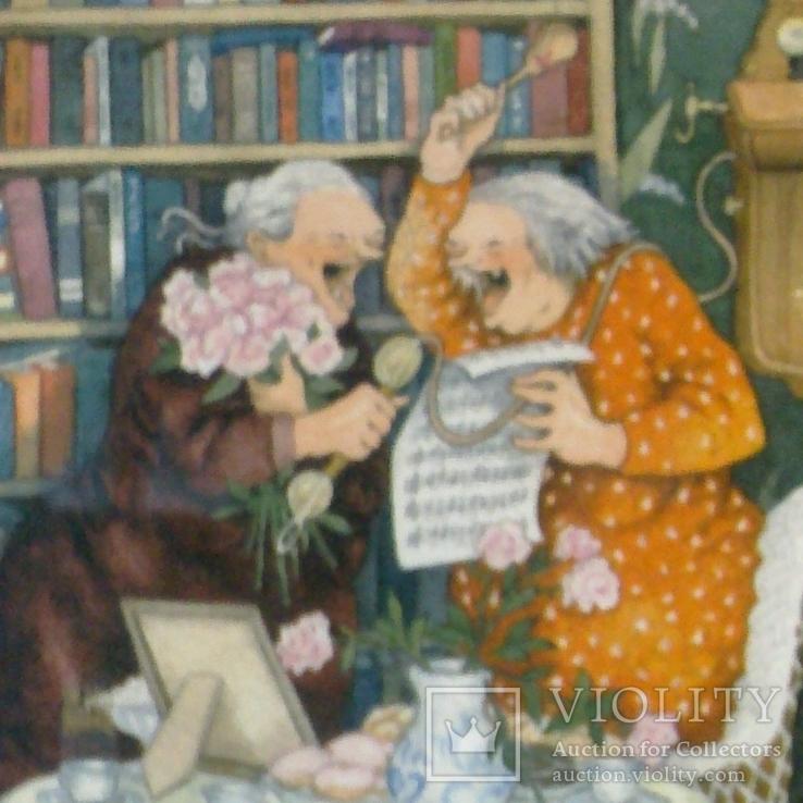 Веселые старушки, художник Инге Лёёк, п/п из Финляндии, фото №4
