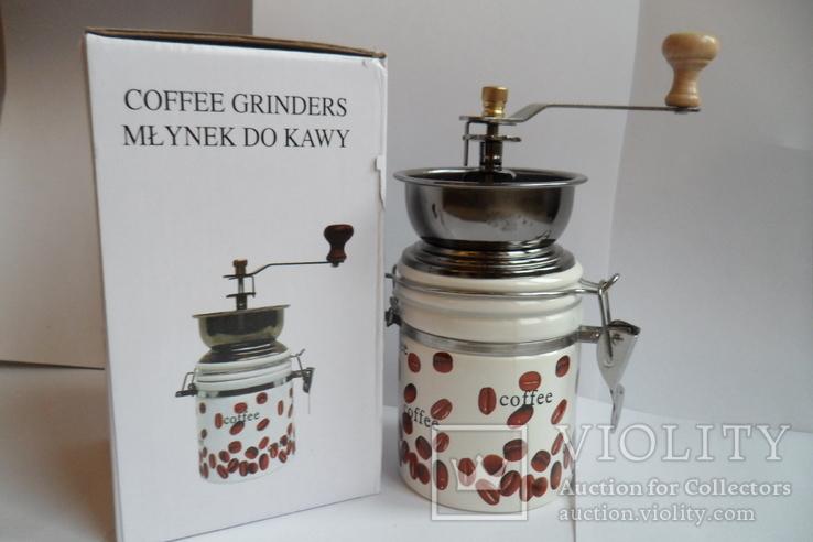 Кофемолка круглая Польша, фото №2