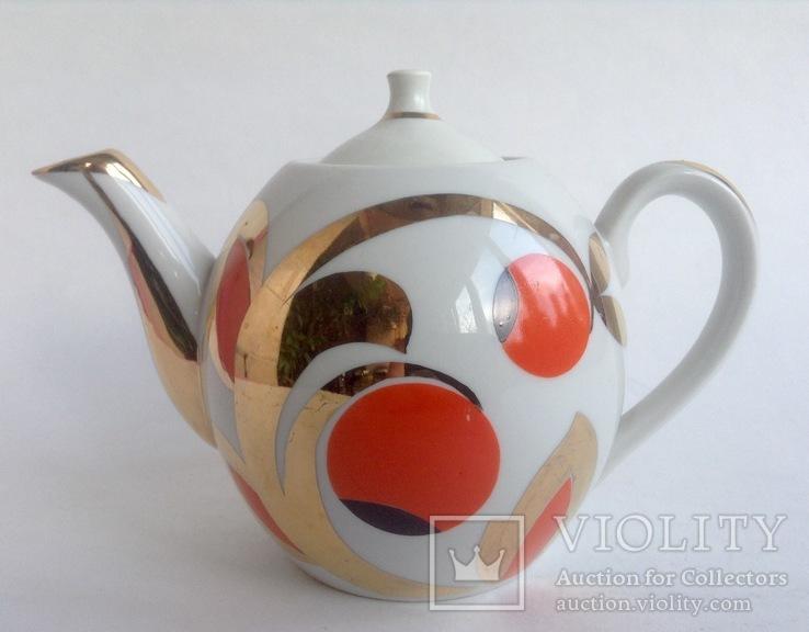 Чайник Золотые ягоды. Фарфор. Вербилки., фото №2
