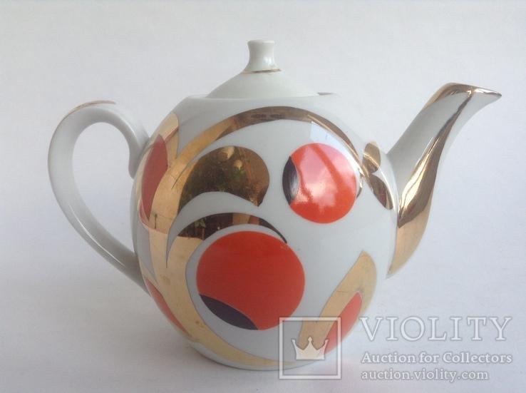 Чайник Золотые ягоды. Фарфор. Вербилки., фото №3