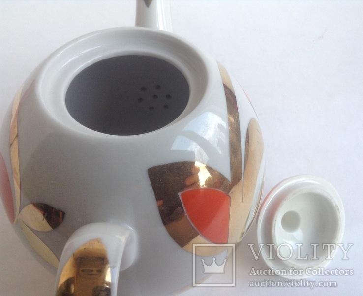 Чайник Золотые ягоды. Фарфор. Вербилки., фото №5