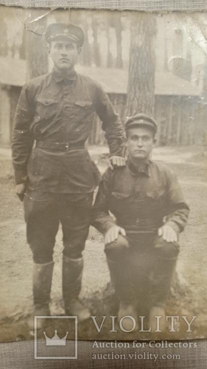 Фотография двух военных 50-е годы, фото №3
