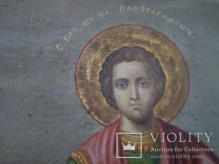 Ікона св.Петро і Пантелеймон, 77.5 на51.5см., фото №6