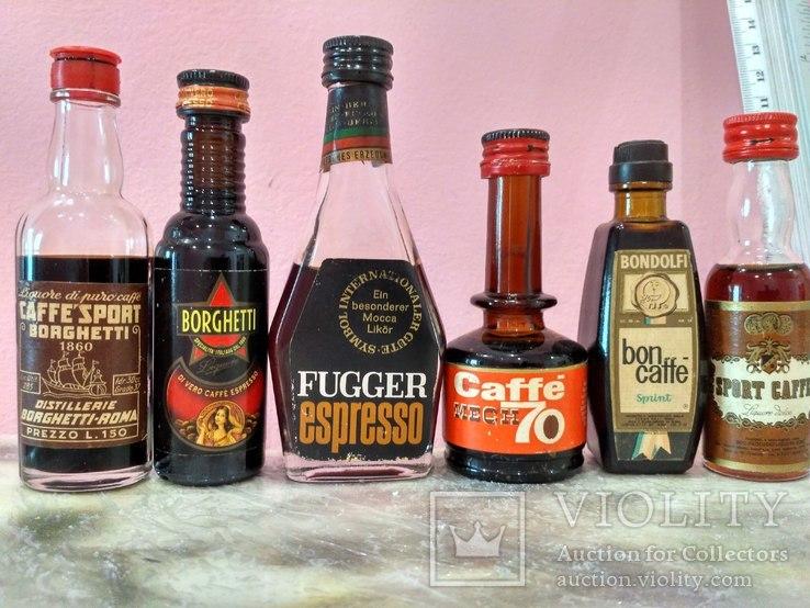6 мини бутылочек ликера Caffe 60-80 годы, фото №3