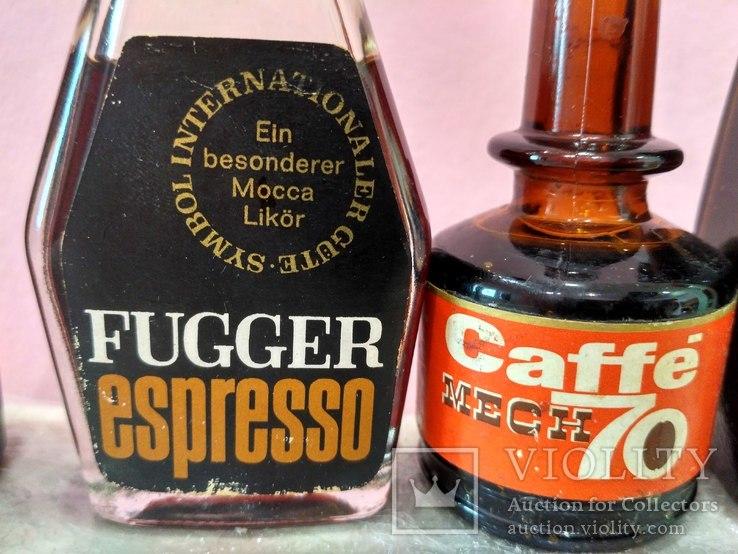 6 мини бутылочек ликера Caffe 60-80 годы, фото №4