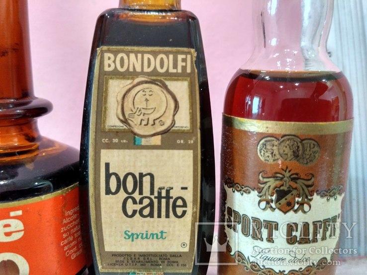 6 мини бутылочек ликера Caffe 60-80 годы, фото №5