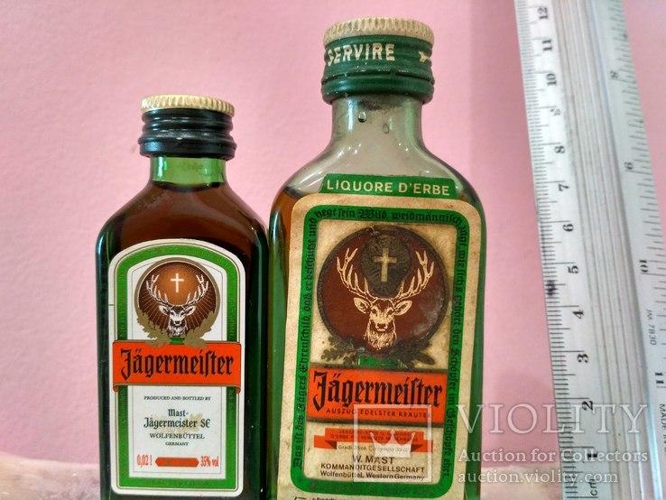 """Две мини бутылочки """"Jagermeister"""", 60-80 годы, фото №2"""