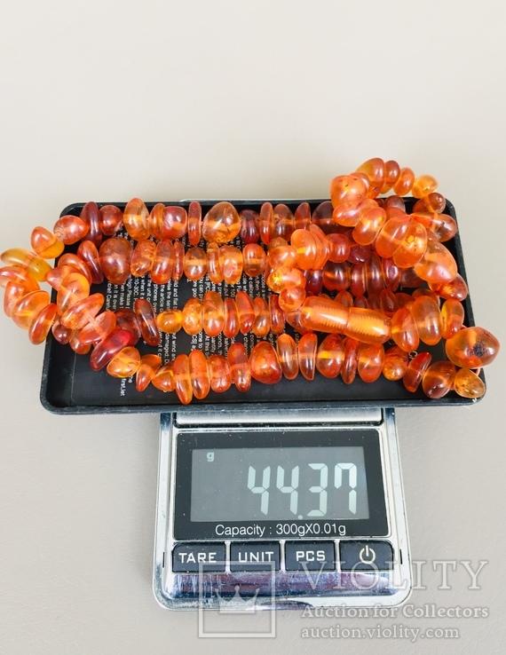 Бусы Янтарь, вес 44 грамма, фото №5
