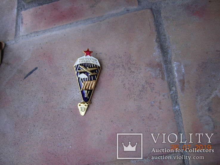 Знак парашютист-инструктор.копия, фото №2