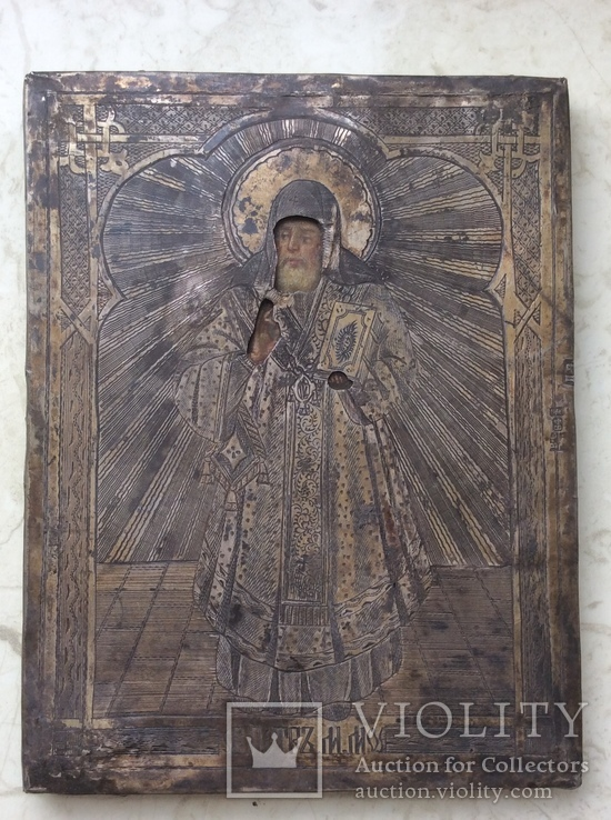 Икона Св. Петра 84, позолота