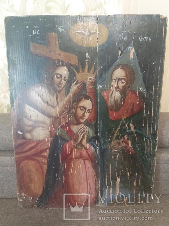 Храмовая икона Коронование Пресвятой Богородицы, фото №3