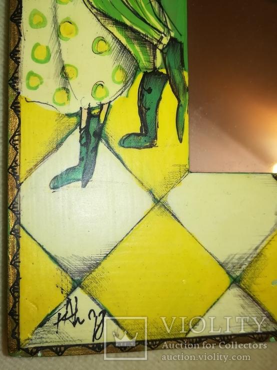 Зеркало дерево авторская роспись, фото №9