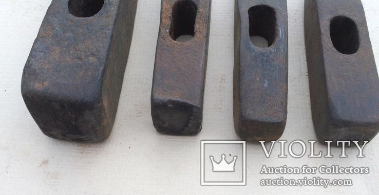 Старые молотки 4 шт, фото №6