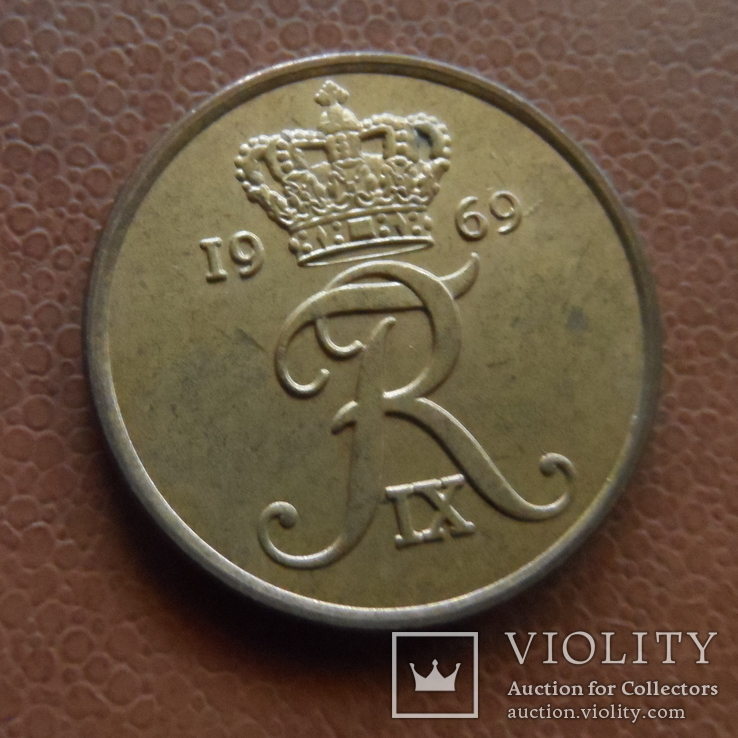 5 эре 1969 Дания (М.7.3), фото №2