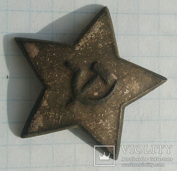 Довоенная звёздочка на головной убор, фото №8