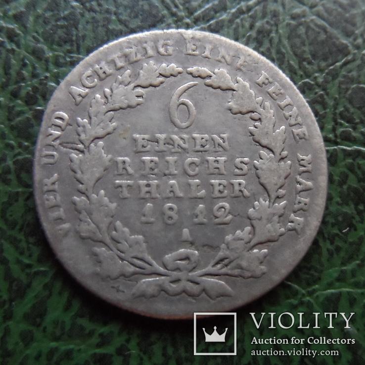 1/6 талера 1812  Германия серебро     ($6.2.8)~, фото №2