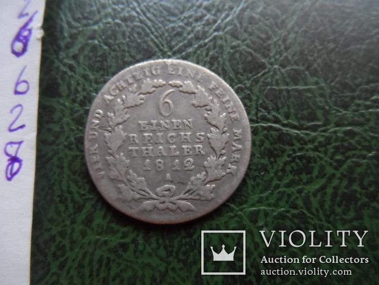 1/6 талера 1812  Германия серебро     ($6.2.8)~, фото №6