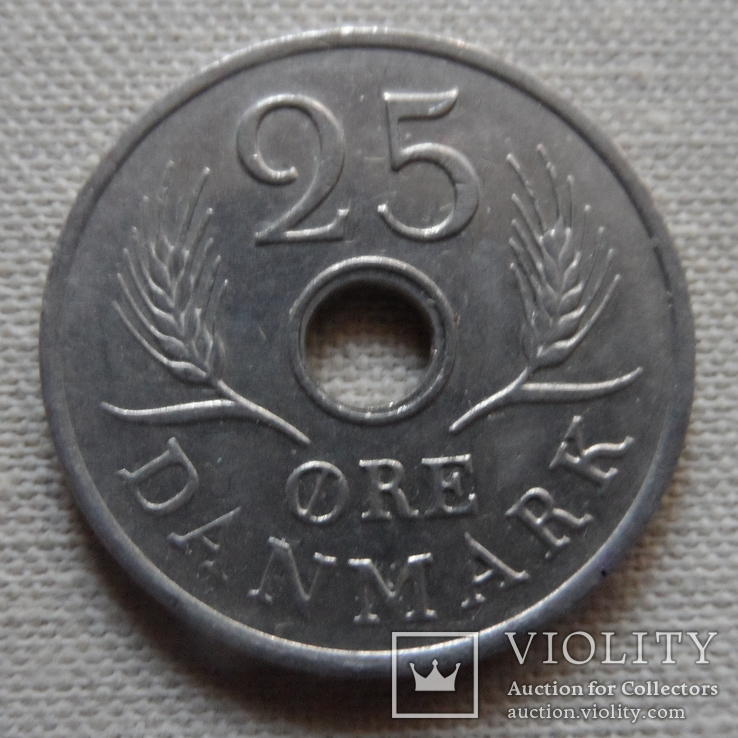 25 эре 1969 Дания (Г.10.38)~, фото №2