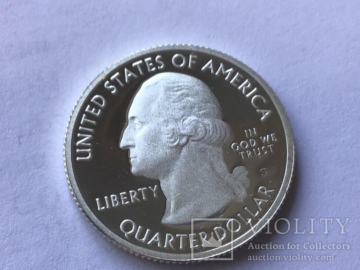 25 центов сша 2010 года. Серебро, фото №3