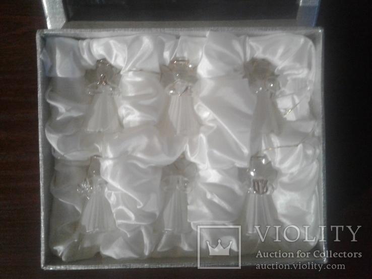 Игрушки ёлочные ангелочки 5см Германия, фото №4