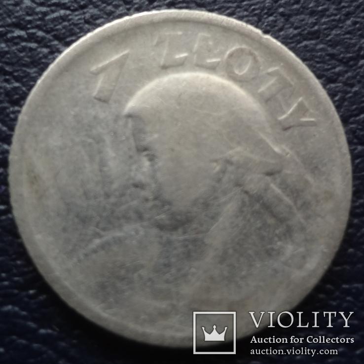 1  злотый  1924  Жница  Польша серебро   (F.1.7) ~, фото №4