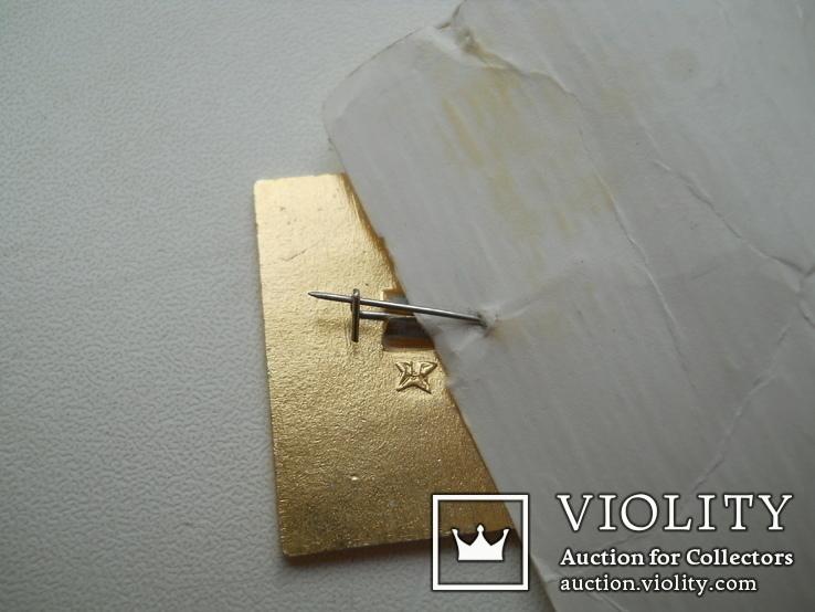 Значок Артек с оригинальным бумажным артековским  бланком, фото №4