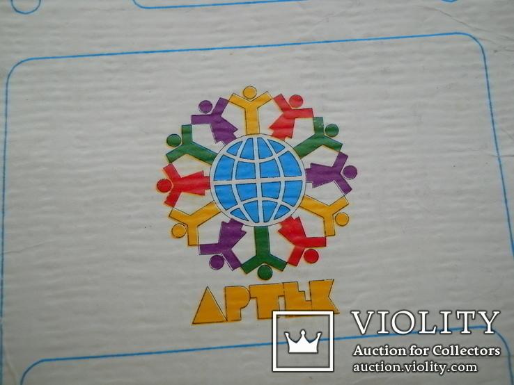 Значок Артек с оригинальным бумажным артековским  бланком, фото №6